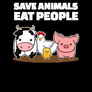 Save Animals Eat People Veganer Vegetarier