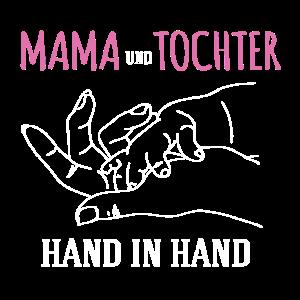 Mama und Tochter Hand in Hand Spruch Mamas Hände