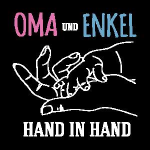 Oma und Enkel Hand in Hand Spruch Liebe Familie