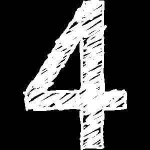 Vier Zahl Geburtstag
