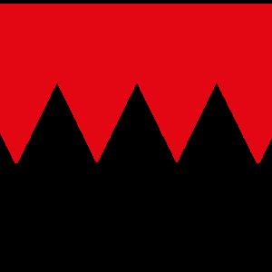 Franken Flagge Fahne rot weiß Zacken