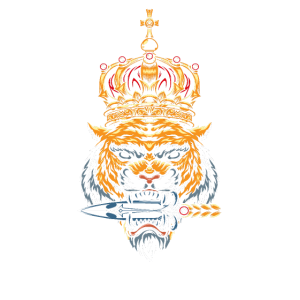 Tiger König Raubkatze Asien Krone Geschenk