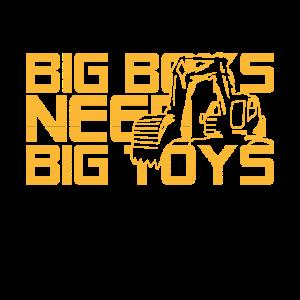 Große Jungs brauchen große Spielzeuge - Bagger
