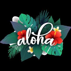 Hawaii aloha tropisch Blumen tropisch