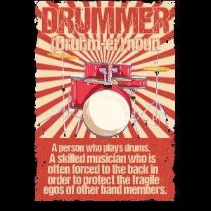 Retro Schlagzeuger Geschenk Drumming Definition