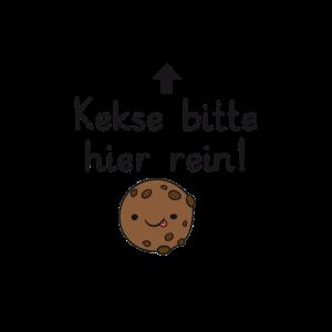 Kekse bitte hier rein!