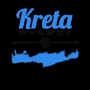 Griechenland Kreta Koordinaten Insel Urlaub Reise