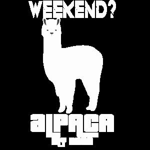 Wochenende Alpaka