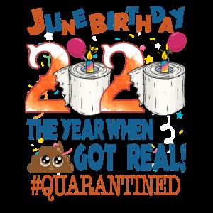 Juni Geburtstag 2020 unter Quarantäne gestellt