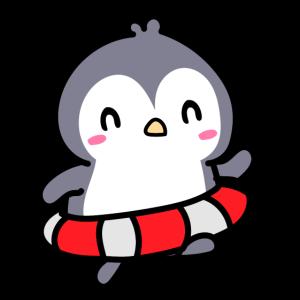 niedlich kleiner pinguin suess sommer schwimmen