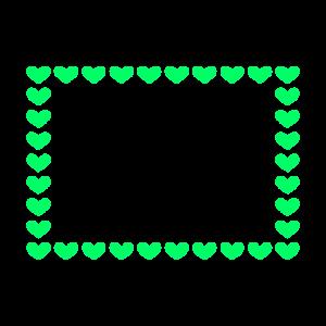 Rechteck Rahmen Dekoration Herz Anpassbar