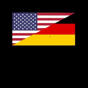 Amerika Deutschland Deutsch Amerikanisch Flagge