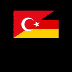 Türkei Deutschland Flaggen Deutsch Türkisch Flagge