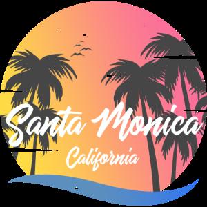 Santa Monica California Palms