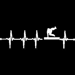 Freerunning Geschenk Herzschlag Puls