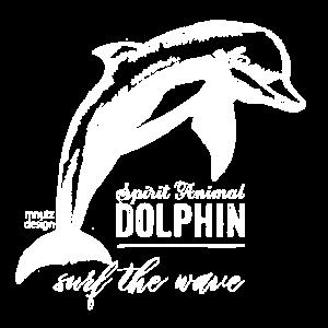 Spirit Animal - Krafttier - Delphin - weiss