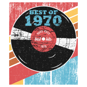 Vintage Best Of 1970 50. Geburtstag Schallplatte