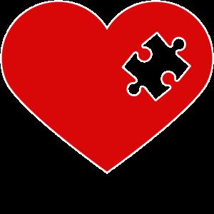 Partnerlook   Herz Puzzle Verliebt Liebe Pärchen