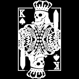 König Poker Karte Skelett