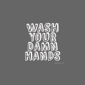 Wash Hands white