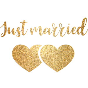 just married 2hearts