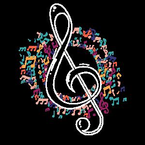 Notenschlüssel Musik Geschenk
