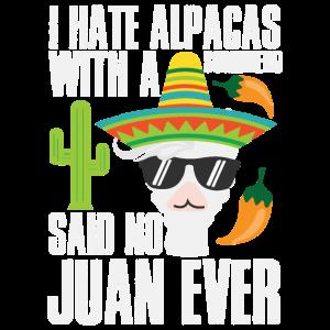 Alpaka Sombrero Spruch | Mexiko No Juan Peru Pako