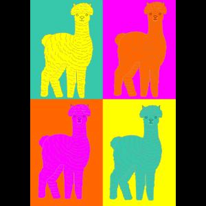 Rainbow Alpaka