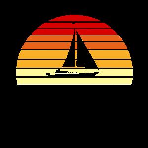 Segelboot Sonnenuntergang Skipper Segler Wind