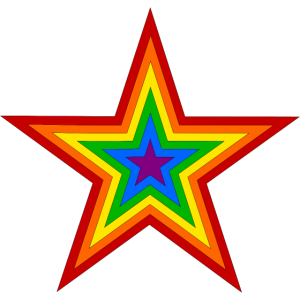 LGBT Star Regenbogenfahne Schwule Lesben Love