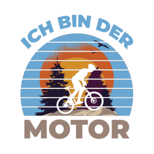 Ich bin der Motor - Fahrrad Fahrradfahrer Retro