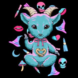 Baby Baphomet - Pastel Goth und Nu Goth Shirt