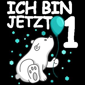 Ich bin 1 Jahr Geburtstags Eisbär 1. Geburtstag