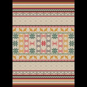 Bohemian, ethnische Musterkunst