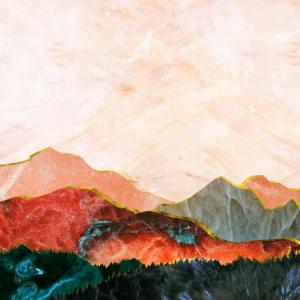 Abstrakte Berglandschaft Digitale Kunst