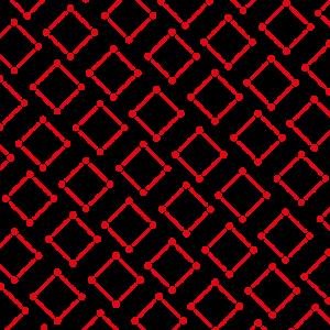 Mund Nase Maske - Muster Karo Linien Punkte rot