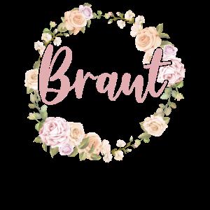 Braut Bride to be Blumenkranz Blumen Verlobung JGA
