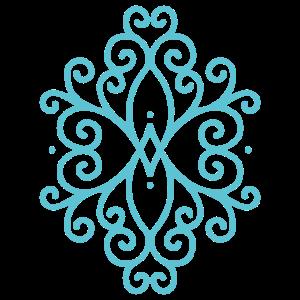 Ornament blau Yoga Yogi Dekoration