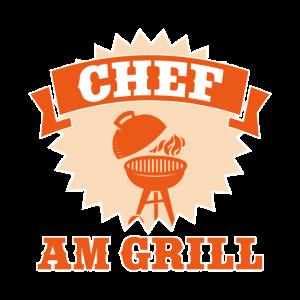 Chef am Grill Grillmeister Geschenkidee