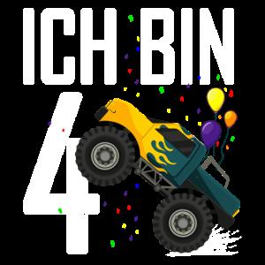 4. Geburtstag Junge 4 Jahre Monster Truck
