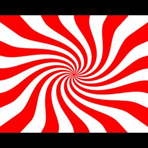 Wirbel in rot und weiß