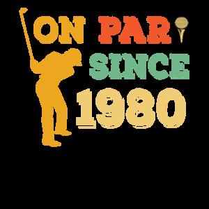 1980 Geburtstagshemd - Golf Shirt - Golf Liebhaber Geschenk