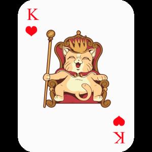 Poker Konig Herz Katze Krone Geschenk