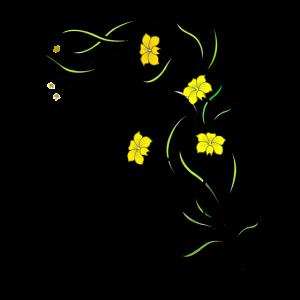 Blumenranke in gelb