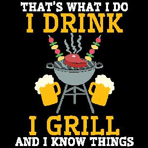 Lustiges Griller Shirt - Bier, Grillen Wissen