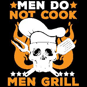 Echt Männer Grillen - Toten Kopfschädel