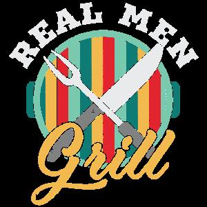 Echt Männer Grillen - Vintage Style