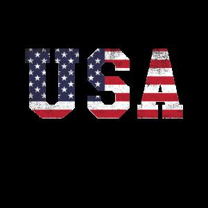 Amerikanische USA-Flagge patriotisches Patriotismus-T-Shirt, Ju
