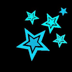 5 kleine blaue Sterne..