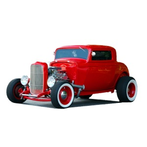 Hot rod red car